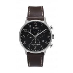 Timex Waterbury Classic Chronograph 40mm Leather Strap Watch (TW2T28200) - Dark Brown