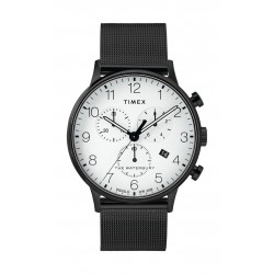 Timex Waterbury Classic Chronograph 40mm Stainless Steel Mesh Band Watch (TW2T36800) - Black