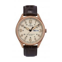 Timex Waterbury Traditional Day Date 42mm Leather Strap Watch (TW2R89200) - Dark Brown
