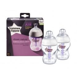 Tommee Tippee 260ml Feeding Bottle (TT422603) - 2Pcs