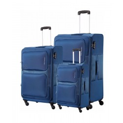 Kamiliant Toro Spinner Soft Luggage 3 Piece Set - Blue (58X69X80CM)