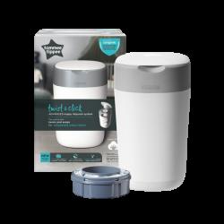 Tommee Tippee twist & Click Advanced Nappy Disposal Bin (TT85100101) - White