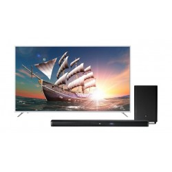 Wansa 75 Inch Ultra HD Smart LED TV  + JBL Bar 2.1 Channel 300W Soundbar with Wireless Subwoofer