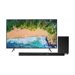 Samsung 75 inch 4K Ultra HD Smart LED TV + JBL Bar 2.1 Channel 300W Soundbar with Wireless Subwoofer