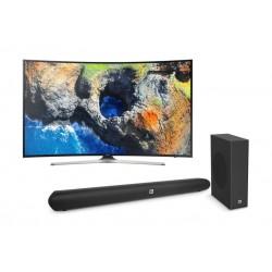 Samsung 49 inch Curved 4K Ultra HD Smart TV + JBL Cinema SB150 Bluetooth 150W Soundbar System