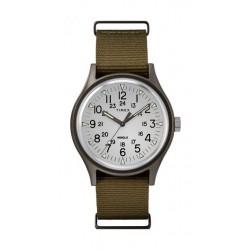 Timex MK1 Quartz Analog Nylon Strap Aluminum Watch (TW2R37600) - Brown