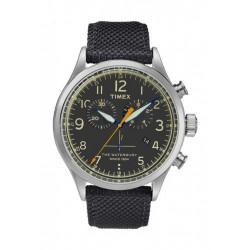 Timex Waterbury Quartz Chronograph Fabric Watch (TW2R38200) - Black
