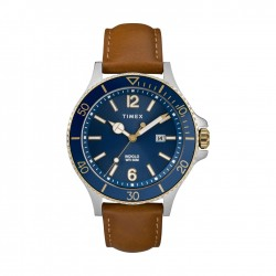 Timex 42mm Analog Gents Leather Watch (TW2R64500)