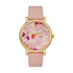 Timex Crystal Bloom 38mm Analog Ladies Leather Watch (TW2R66300) - Pink