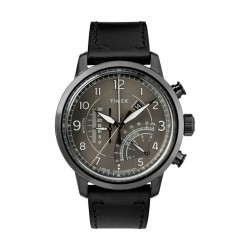 Timex Waterbury Linear 45mm Chronograph Gent's Leather Watch - TW2R69000