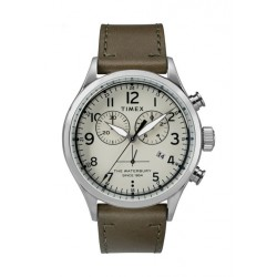 Timex Waterbury Traditional 42mm Chronograph Unisex Leather Watch - TW2R70800