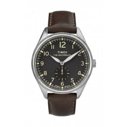 Timex 42mm Gents Leather Analog Watch (TW2R88800) - Dark Brown