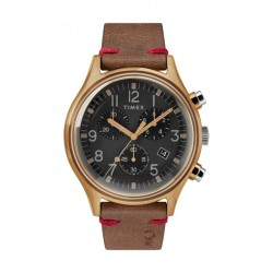 Timex 42mm Gents Leather Chronograph Watch (TW2R96300) - Brown