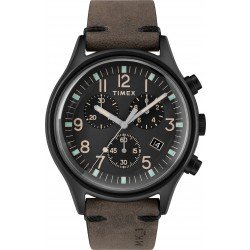 Timex MK1 Analog 42mm Leather Watch (TW2R96500)