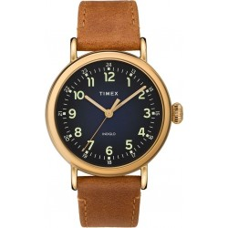 Timex Indiglo Analog 40mm Gents Leather Watch (TW2T20000) - Brown