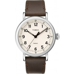 Timex Indiglo Analog 40mm Gents Leather Watch (TW2T20700) - Brown
