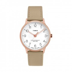 Timex Waterbury 36mm Analog Ladies Leather Watch (TW2T27000)