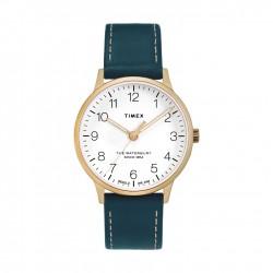 Timex Waterbury 36mm Analog Ladies Leather Watch (TW2T27300)