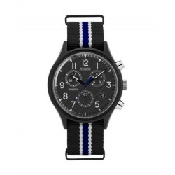 Timex 42mm Indiglo Analog Unisex Fabric Watch (TW2T29700)