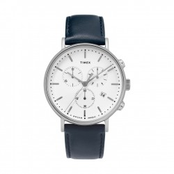 Timex 41mm Indiglo Analog Ladies Leather Watch (TW2T32500)