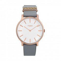 Timex 38mm Analog Ladies Leather Watch (TW2T45400)