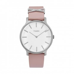 Timex 38mm Analog Ladies Leather Watch (TW2T47900)