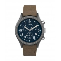 Timex 42mm MK1 Chronograph Gents Leather Watch (TW2T68000) - Brown