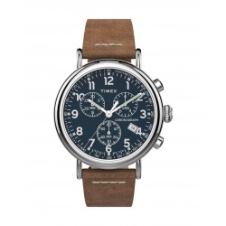 Timex 41mm Chronograph Gents Leather Watch (TW2T68900) - Brown