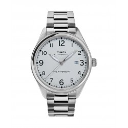 Timex 42mm Waterbury Analog Gents Metal Watch (TW2T69700) - Silver