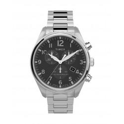 Timex 42mm Waterbury Chronograph Gents Metal Watch (TW2T70300) - Silver