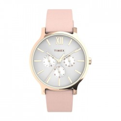 Timex 38mm Analog Ladies Leather Watch (TW2T74300)
