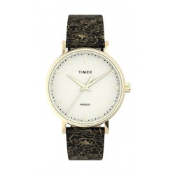 Timex 33mm Essential Collection Ladies Leather Watch - (TW2U40700)