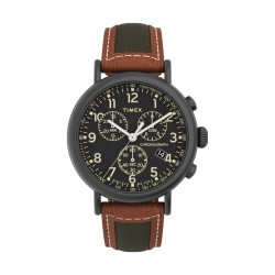 Timex Essential Collection 35mm Gent's Leather Quartz Watch - (TW2U58000)