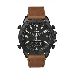 Timex Expedition Pioneer Combo 41mm Quick-Release Leather Strap Watch (TW4B17400ZA) - Brown
