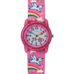 Timex 28mm Kids Analog Fabric Watch (TW7C25500) - Pink