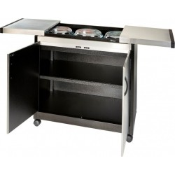 Wansa Food Warmer Trolley(TY-6001) - Brushed Steel