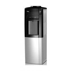 TCL Water Dispenser Fashion Push Design with Fridge (TY-LYR11B) – Black / Silver