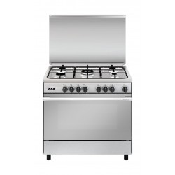Glem Gas 5 Burners Stainless Steel Cooker - UN9638R101BY