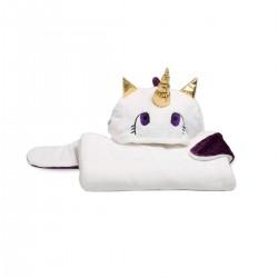 Lavatelli Kanguru Unicorn Blanket (1196) - White