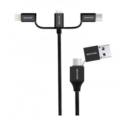 Promate UniLink-Trio2 3-in-1 Smart USB Cable - Silver