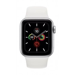 Apple Watch Series 5 GPS 40mm Silver Aluminium Case with White Sport Band 2