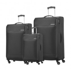 American Tourister Jamaica 3-Set Luggage + Backpack - Black