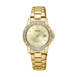 Seiko Watch 28mm Analog Quartz Ladies Metal Watch - UR714P