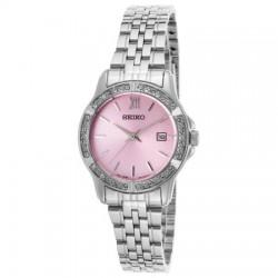 Seiko Mechanical Analog Ladies Metal Watch (UR739P) - Silver