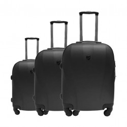US Polo Cappadocia 3 Set Luggage (79X46X27CM) - Black