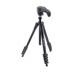 Manfrotto Compact Action 155cm Joystick Head Tripod (MKCOMPACTACN-BK) - Black