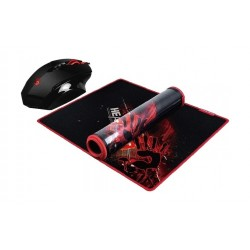 Bloody V7M71 Multi Core Gaming Mouse and Mousepad - Black