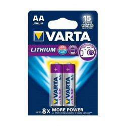 Varta 2Pcs AA Lithium Batteries