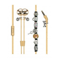 Promate Vogue-2 Wearable Wristband Style Wired Stereo Earphone - Gold