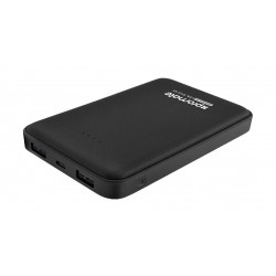 Promate 10000mAh Portable Power Bank with Dual USB Port - Black